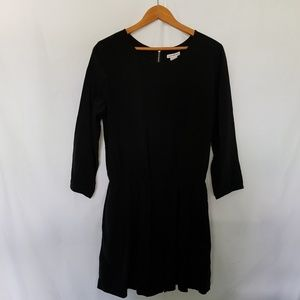 Club Monaco Black 3/4 Long Sleeve Silk Romper 6